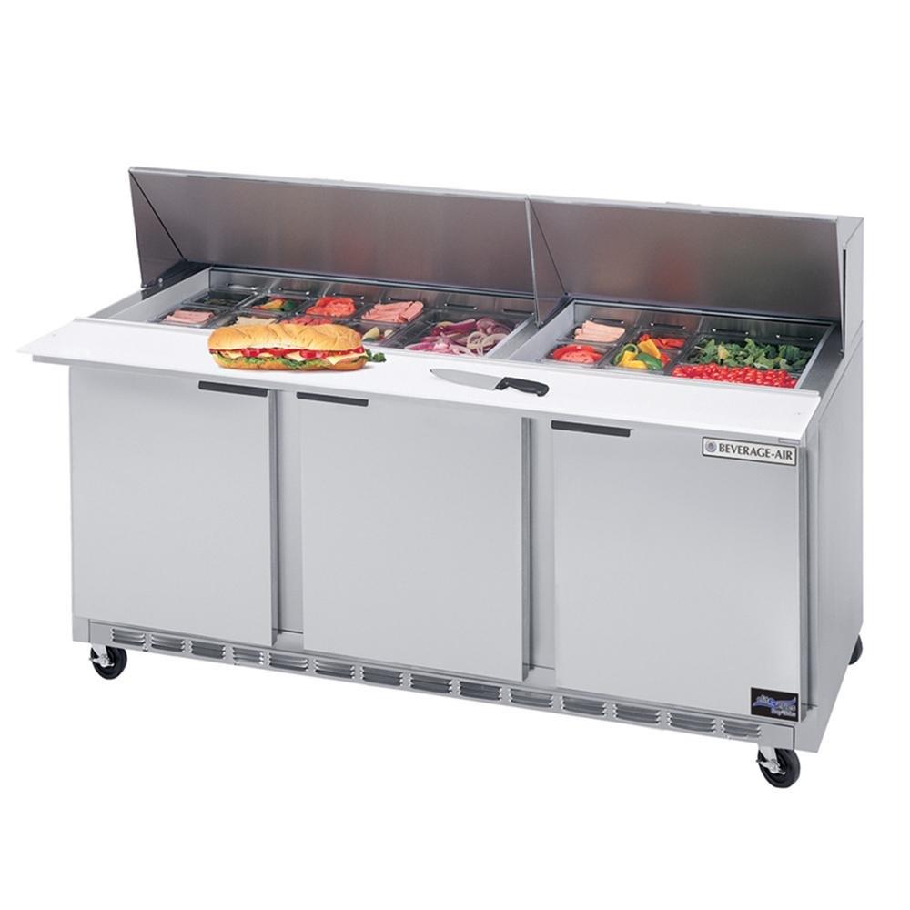 "Beverage Air (Bev Air) SPE72-18M 72"" Mega Top Refrigerated Salad / Sandwich Prep Table at Sears.com"
