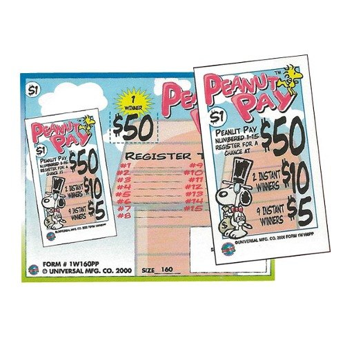 """""""Peanut Pay"""" 1 Window Pull Tab Tickets - 160 Tickets Per Deal - Total Payout: $115 at Sears.com"""