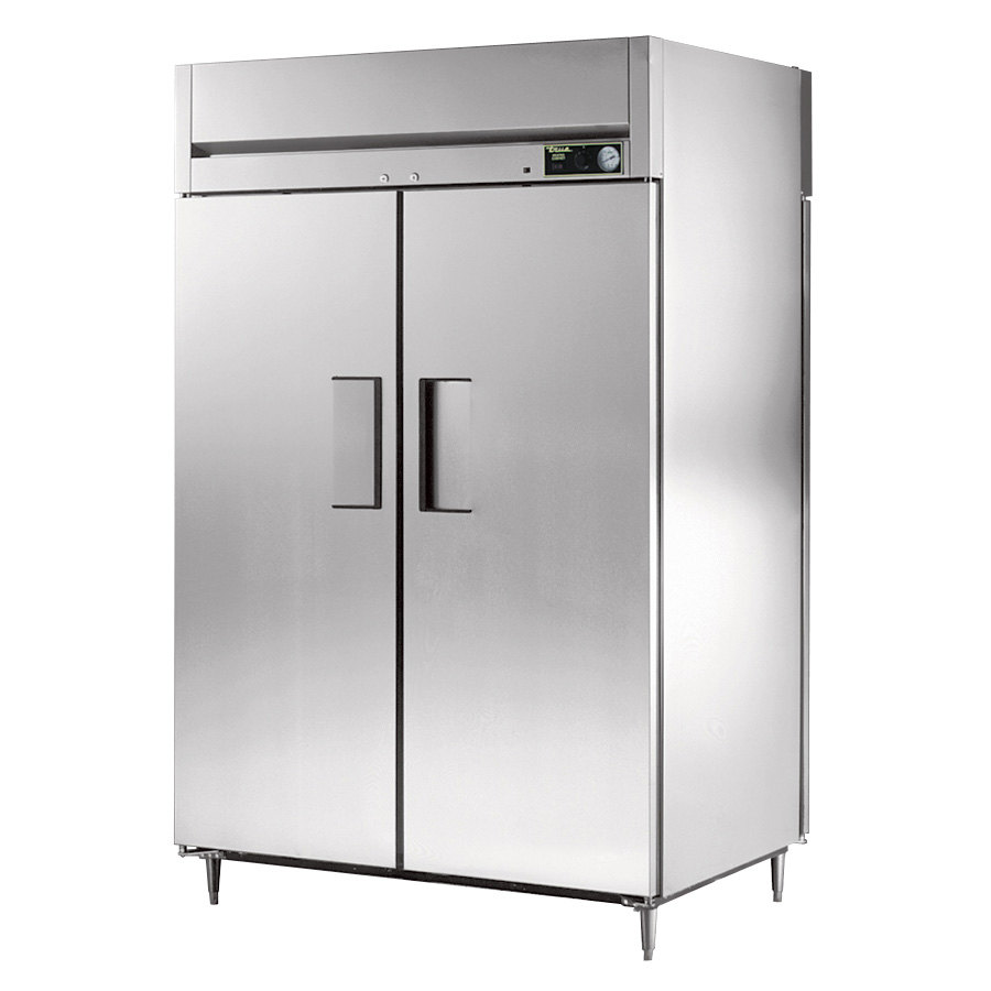 True STG2HPT-2S-2S Specification Series Two Section Pass Through Solid Door Heated Holding Cabinet