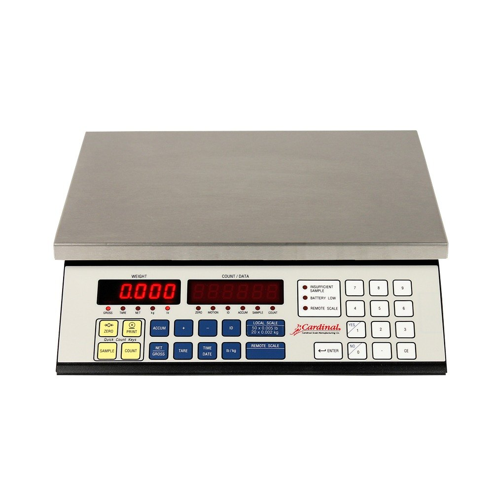 Cardinal Detecto 2240-100 100 lb. High Resolution Digital Counting Scale