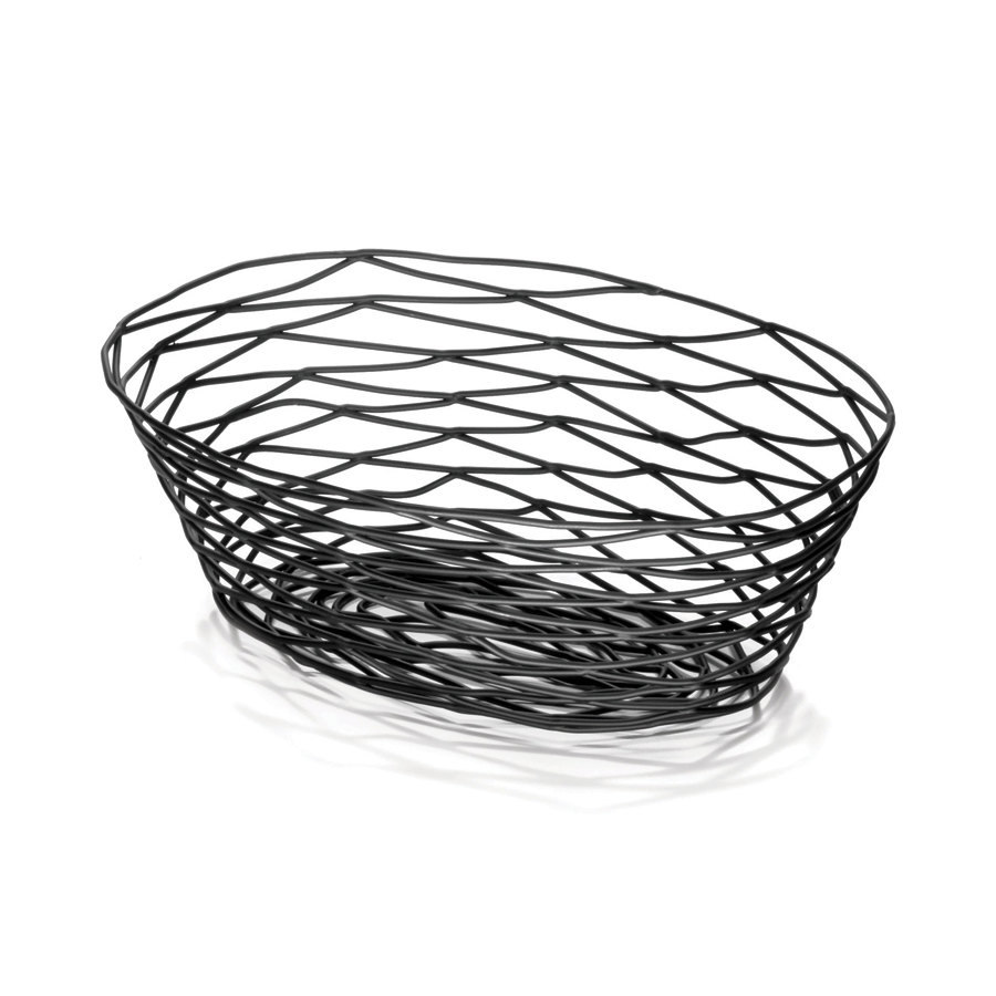 tablecraft bk17409 artisan oval black wire basket 9 x 6 x 2 1 4. Black Bedroom Furniture Sets. Home Design Ideas