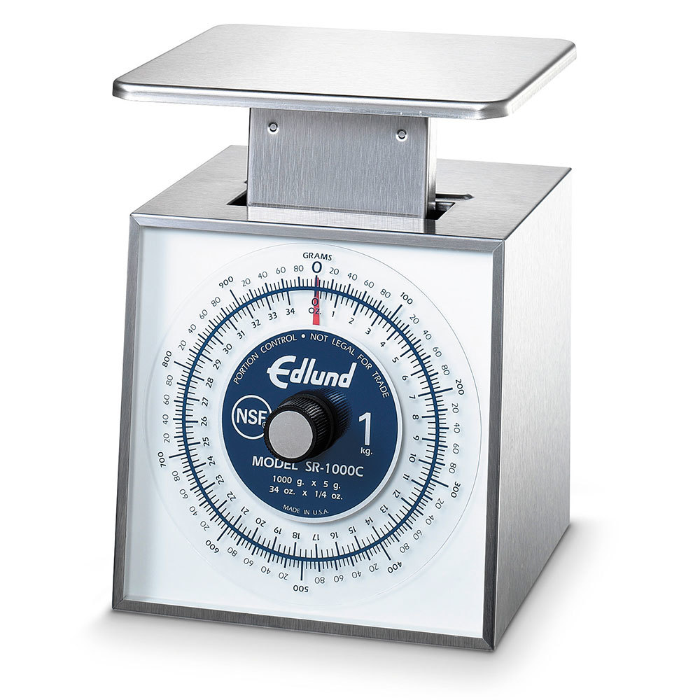 Edlund SR-1000C Stainless Steel 34 oz. Mechanical Portion Control Scale