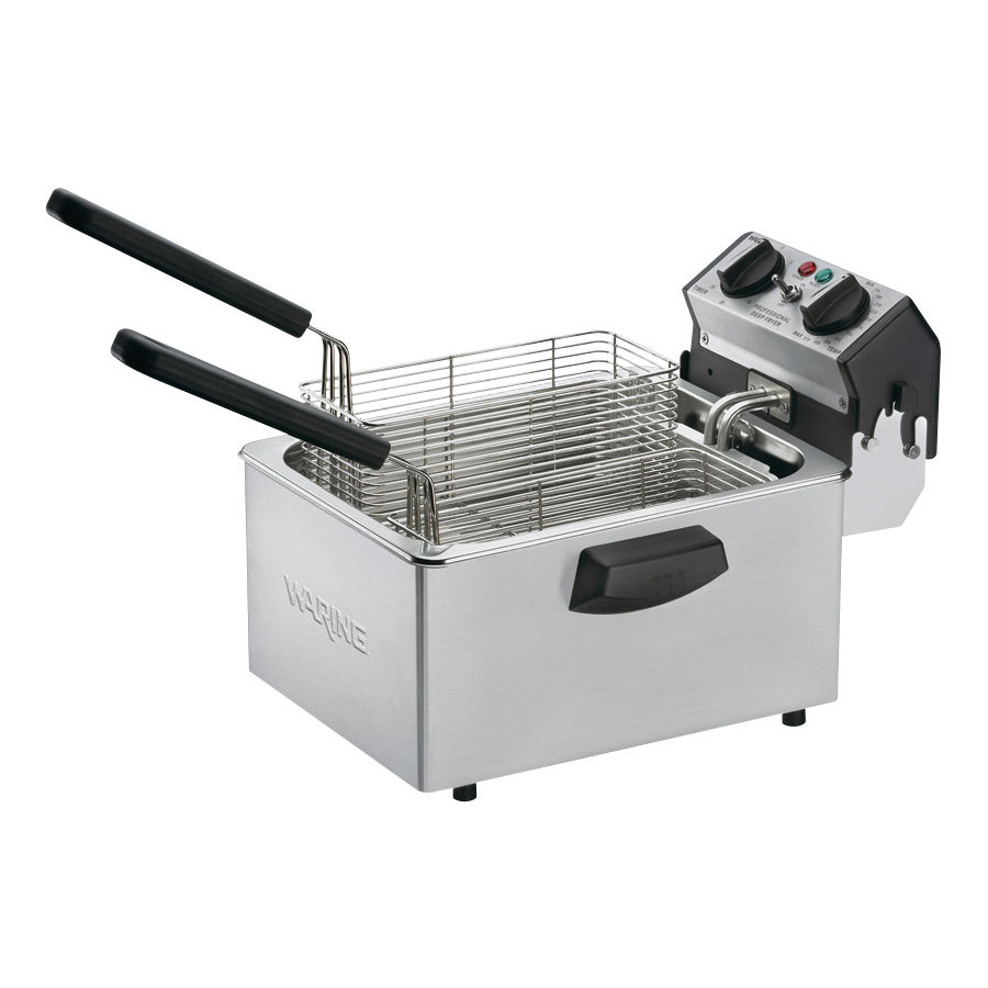 Waring WDF75B 8.5 lb. Commercial Countertop Deep Fryer 208V