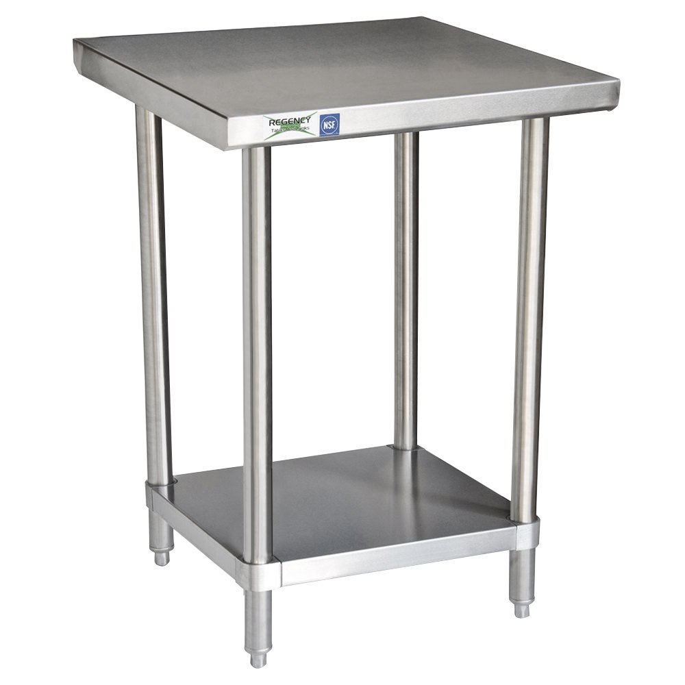 Regency 16 Gauge All Stainless Steel Commercial Work Table - 30 inch x 30 inch with Undershelf