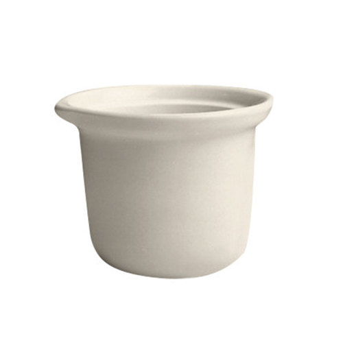 Hall China 4700BWHA 8 oz. Ivory (American White) China Marmite Soup Bowl - 24/Case