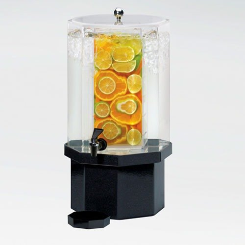 Cal Mil 972-3-INF-24 3 Gallon Classic Octagon Infusion Dispenser with Mirror Base - 11 inch x 11 inch x 22 inch