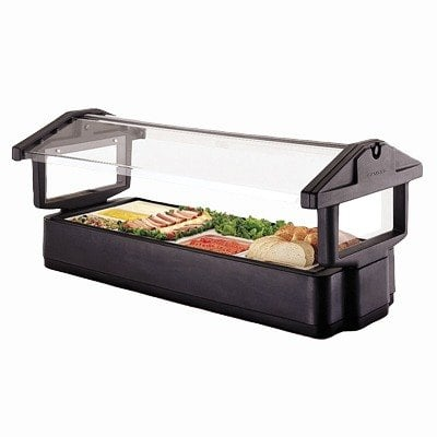 Black Cambro 5FBRTT110 Table Top 5' Food / Salad Bar with Sneeze Guard