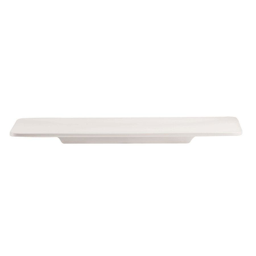 "Cardinal Chef & Sommelier S1063 Purity 10 3/4"" x 5 1/8"" Rectangle Plate - 24/Case"