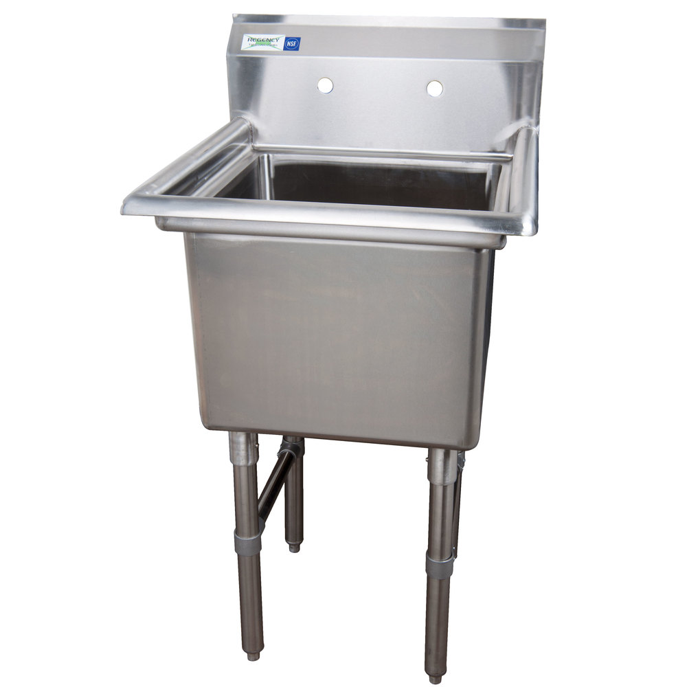... Compartment Commercial Sink without Drainboard - 18