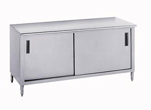 """Advance Tabco 14 Gauge Advance Tabco CB-SS-304M 30"""" x 48"""" Work Table with Cabinet Base and Mid Shelf at Sears.com"""