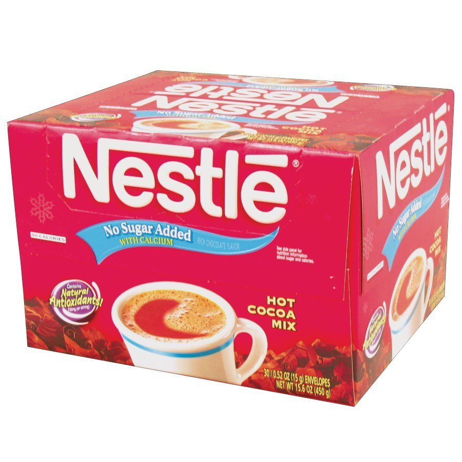 Nestle's Instant Hot Chocolate / Cocoa Mix - No Sugar Added 30/Box