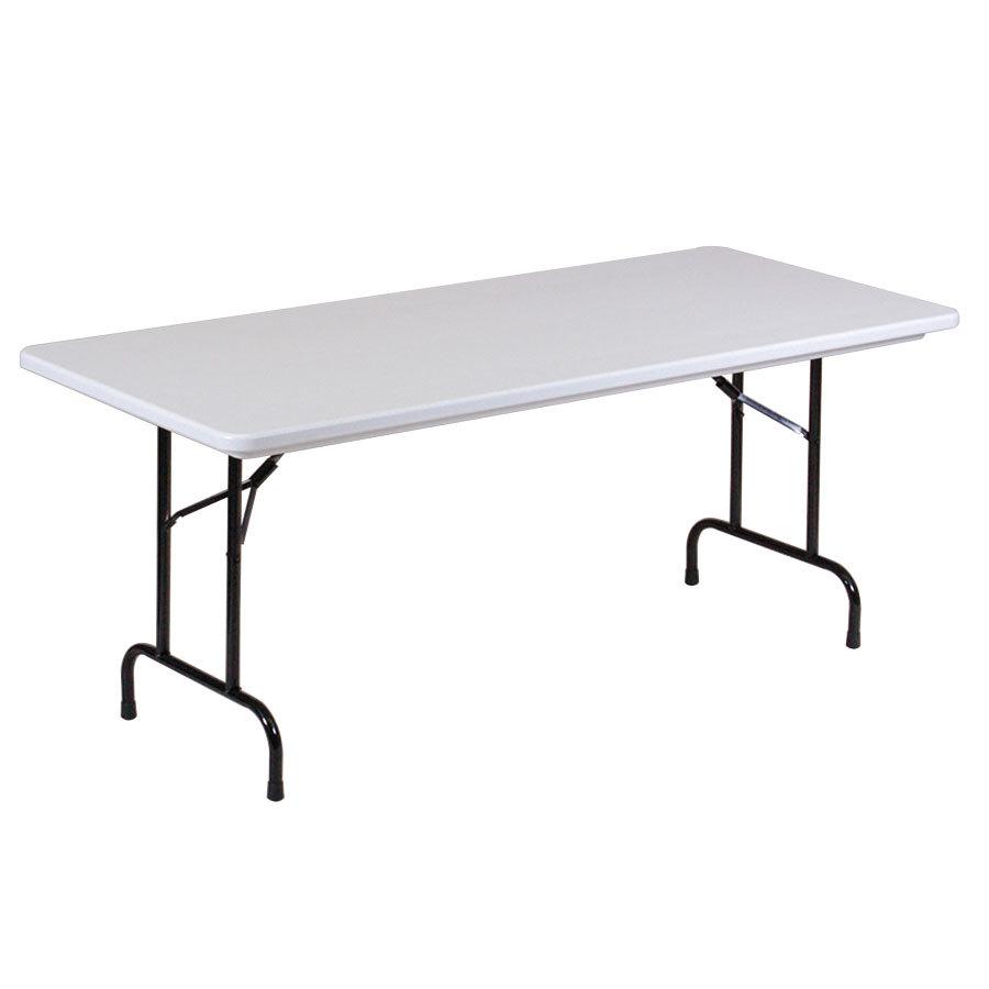 correll rx3072 30 x 72 gray plastic tamper resistant folding table. Black Bedroom Furniture Sets. Home Design Ideas