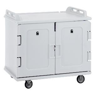 Cambro MDC1418S20180 Light Gray Meal Delivery Cart 20 Tray