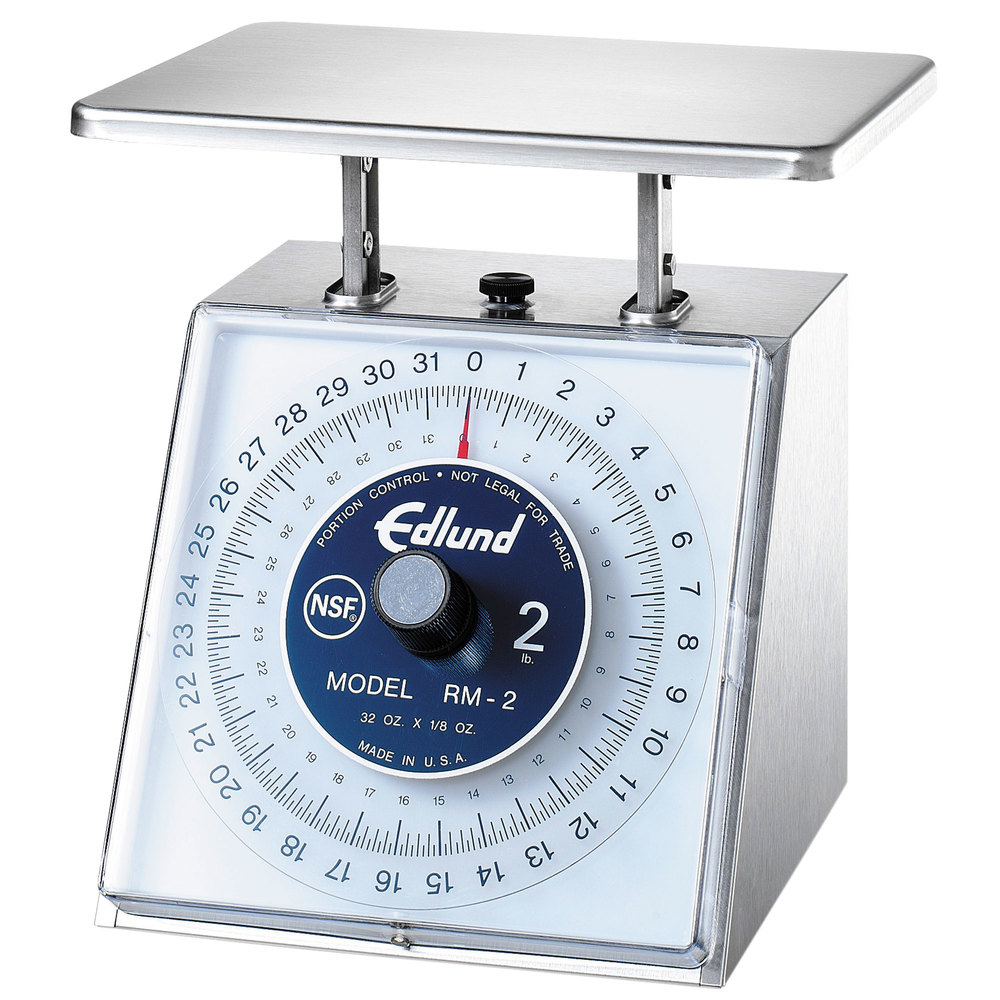 "Edlund RM-2 Four Star 32 oz. Portion Scale with 7"" x 8 3/4"" Platform"