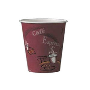 Solo 374SI 4 oz. Bistro Paper Hot Cup 50 / Pack
