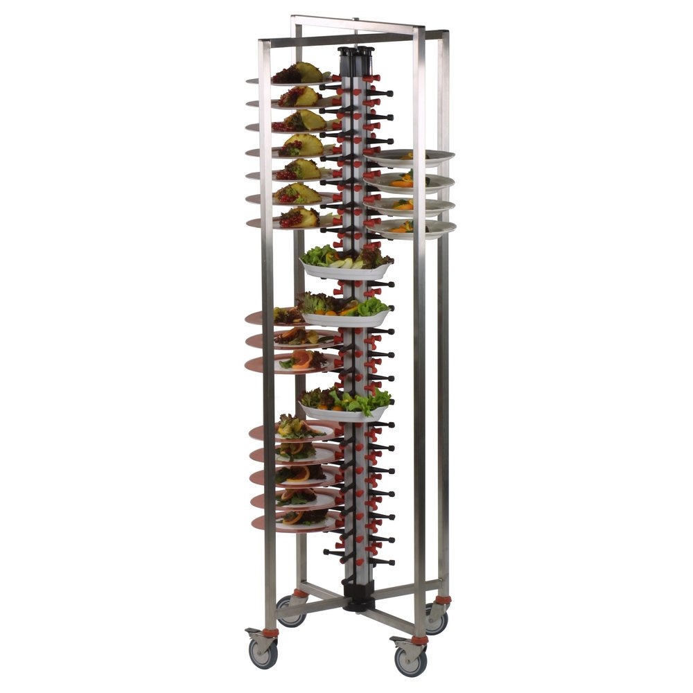 "Plate Mate PM84-135 Collapsible / Folding Mobile Plate Rack Holds 84 Plates 75""H"