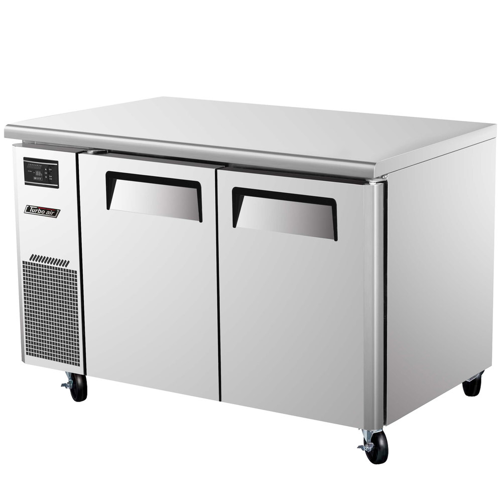 "Turbo Air JUR-48 48"" J Series Two Door Undercounter Refrigerator with Side Mounted Compressor"