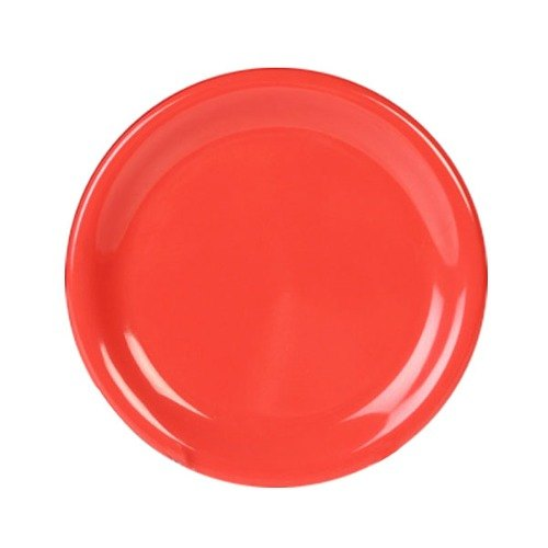 "11 3/4"" Orange Wide Rim Melamine Plate 12 / Pack"