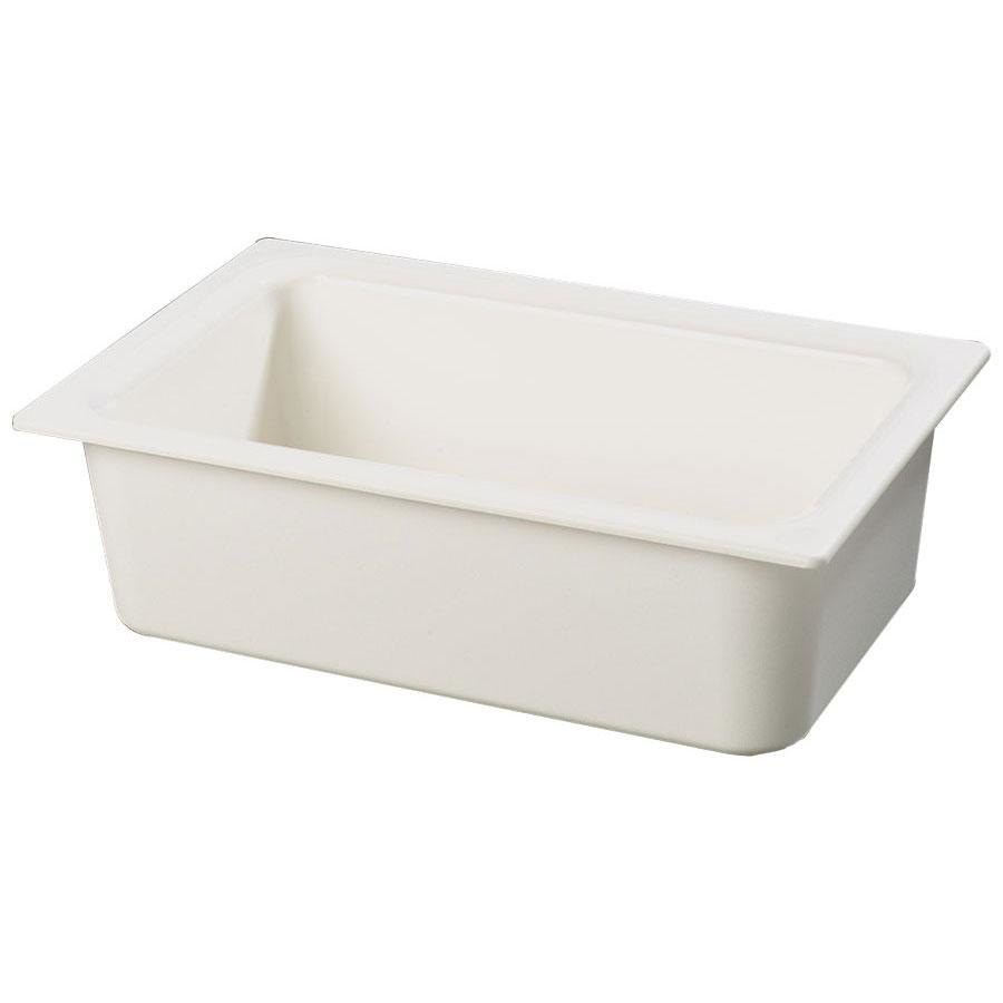"Carlisle CM110002 White 6"" Deep Full-Size Coldmaster Cold Food Pan"