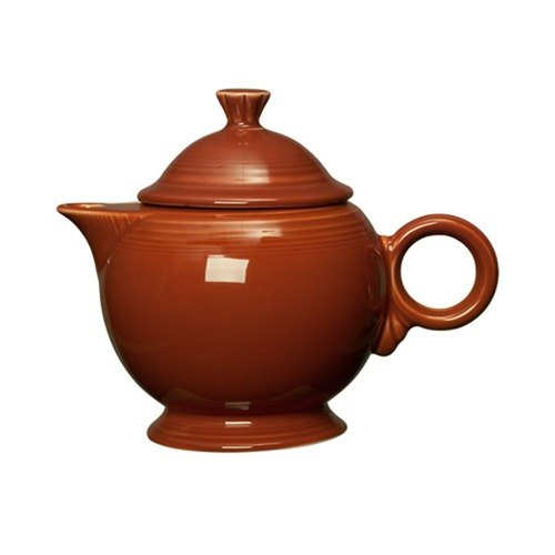 Homer Laughlin 496334 Fiesta Paprika 44 oz. Covered Teapot - 4 Sets / Case