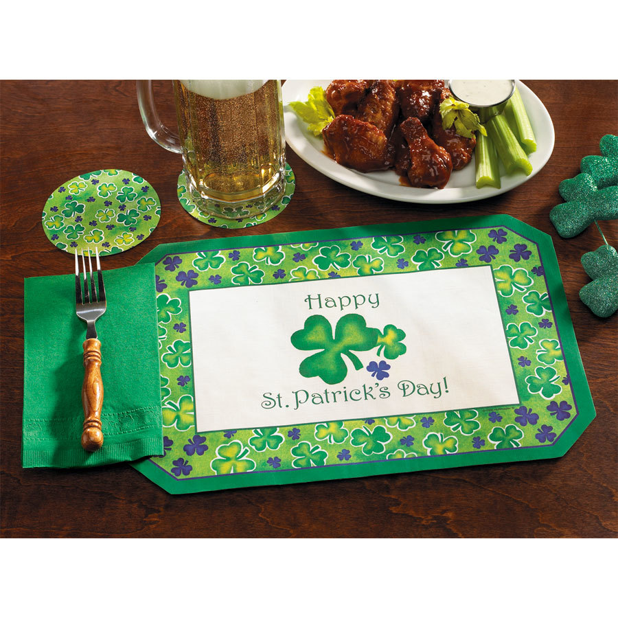 hoffmaster 856719 10 x 14 st patrick 39 s day placemat and napkin combo pack 200 case