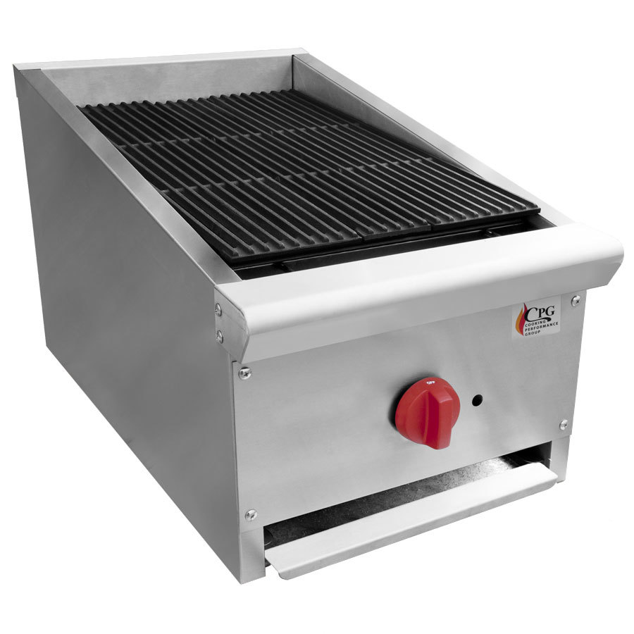 Cooking Performance Group CPG-EB-15C 15 inch Lava Rock Charbroiler - 38,000 BTU