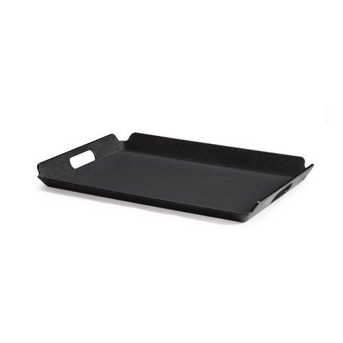 "GET RST-1523-BK 21 1/4"" x 15 1/4"" Black Plastic Non-Skid Room Service Tray"