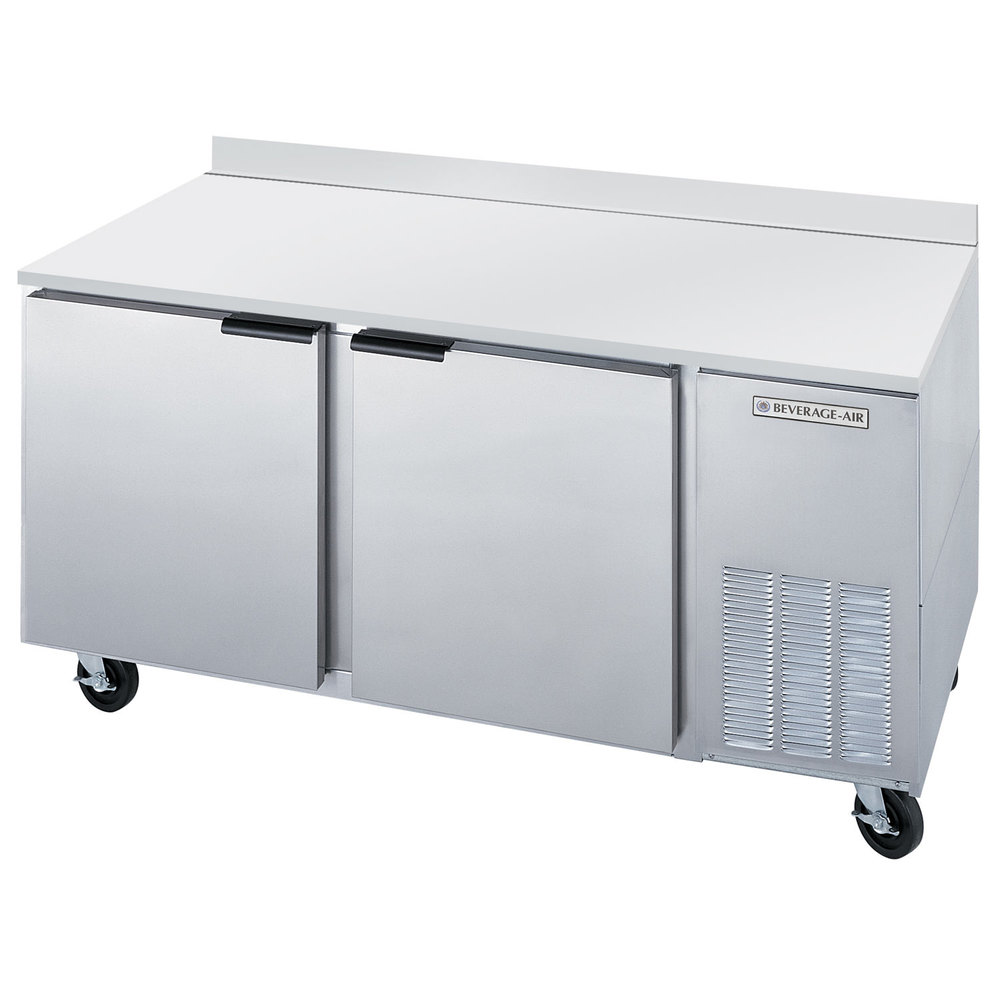 Beverage Air WTR67A 67 inch Worktop Refrigerator - 2 Doors