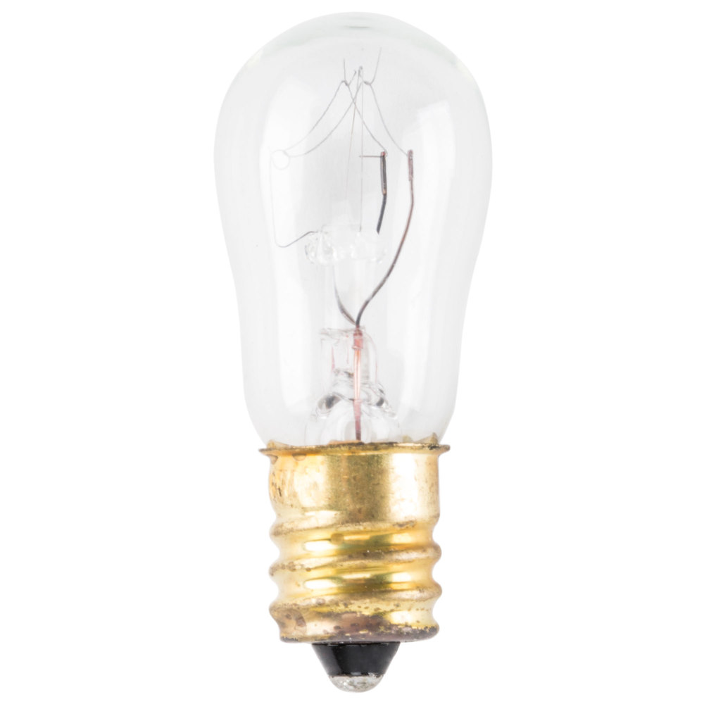 6 Watt Clear Indicator Light Bulb - 10/Pack