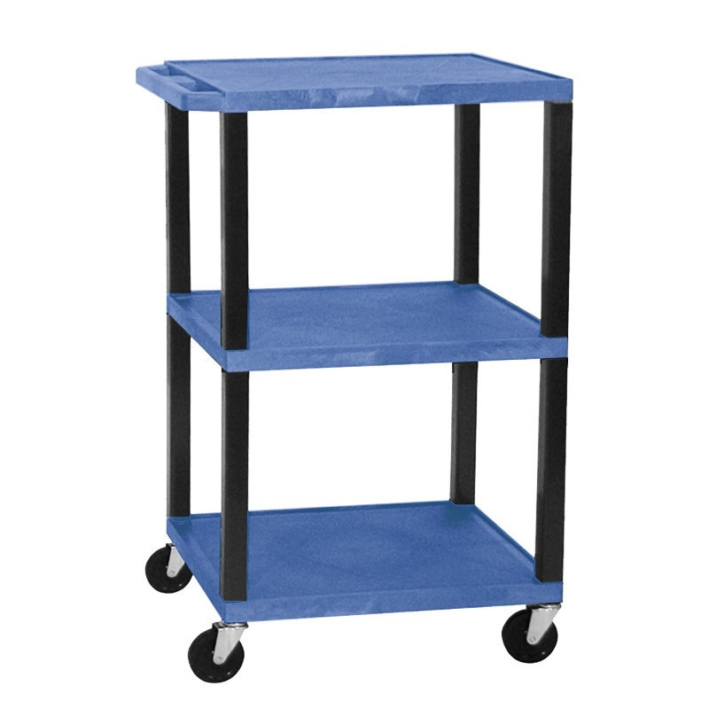 http://www.webstaurantstore.com/images/products/main/2786/165478/blue-h-wilson-wt1642e-tuffy-open-shelf-a-v-cart-18-x-24-with-3-shelves-adjustable-height.jpg