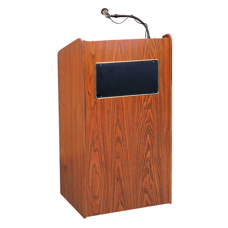 Oklahoma Sound 6010CH Cherry Finish Aristocrat Floor Lectern with Sound