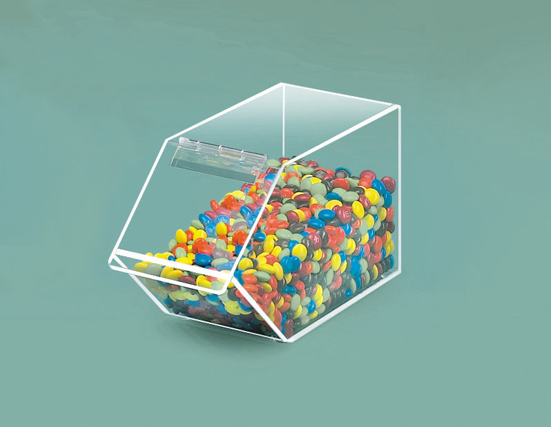 Cal Mil 492 Stackable Mini Acrylic Food Bin 4 1/2 inch x 11 inch x 5 1/2 inch