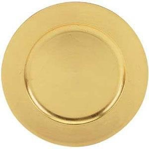 "Tabletop Classics TRG-6651 13"" Gold Leaf Round Acrylic Charger Plate"