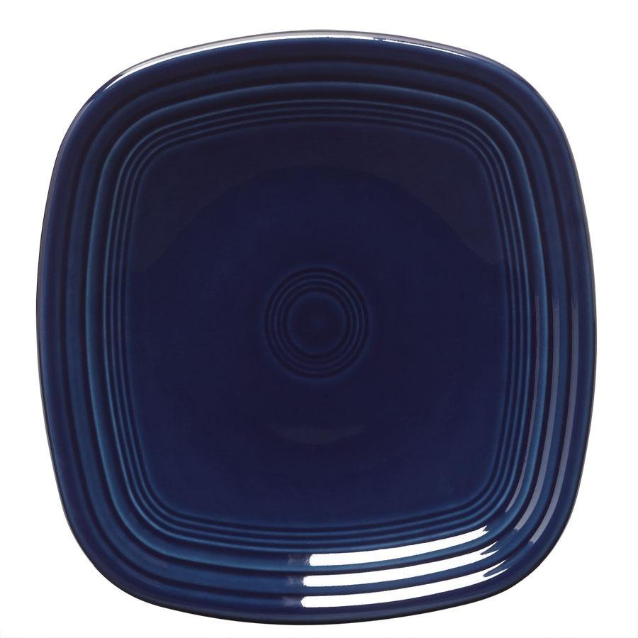 Homer Laughlin 921105 Fiesta Cobalt Blue 7 1/2 inch Square Salad Plate - 12 / Case