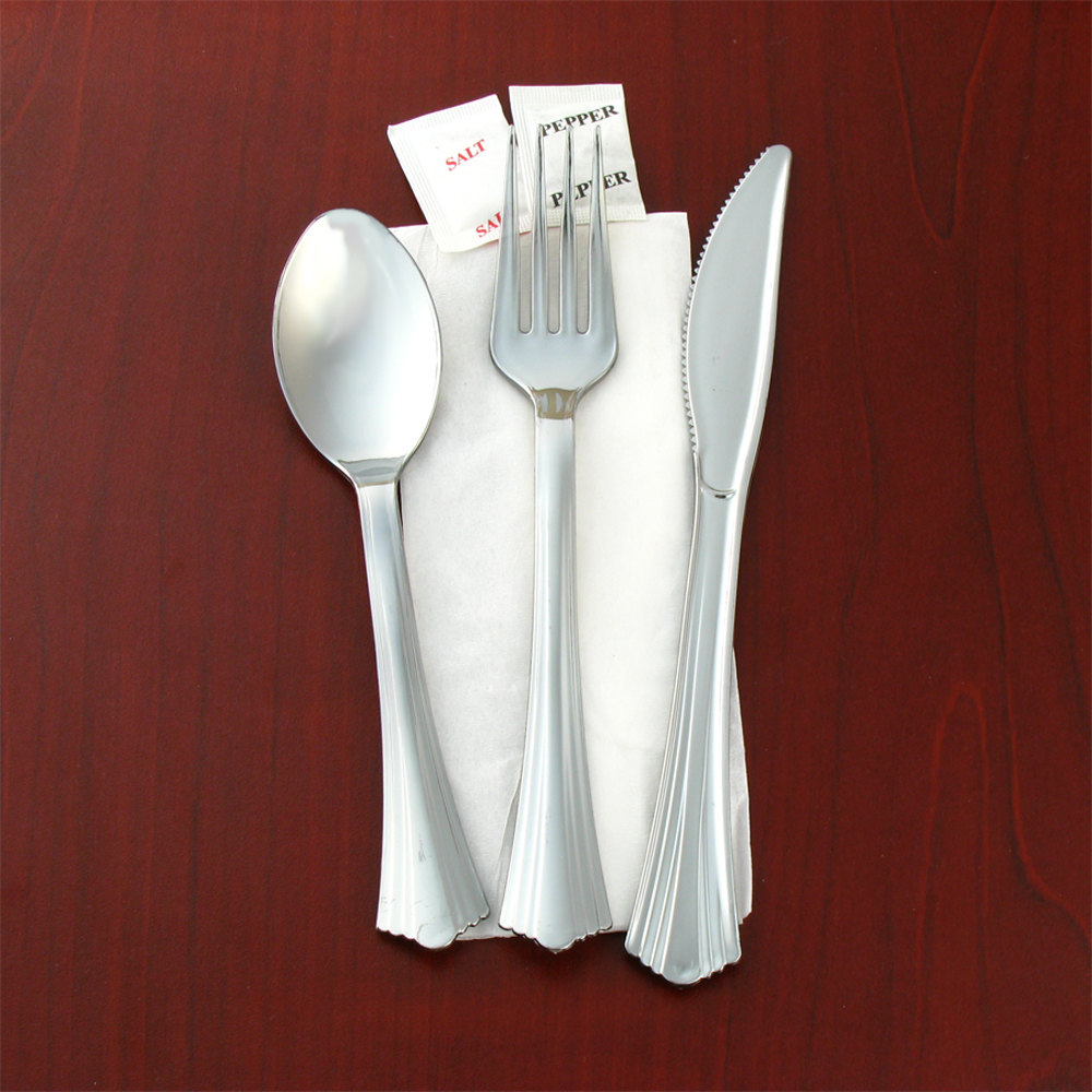 WNA Comet | Wrapped Plastic Flatware Sets - WEBstaurant Store
