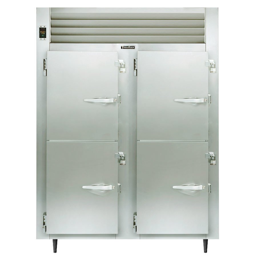 Traulsen AHF232W-HHS 52.8 Cu. Ft. Solid Half Door Two Section Reach In Heated Holding Cabinet - Specification Line