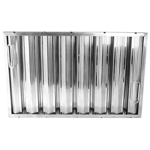 "All Points 26-3895 16"" x 25"" x 2"" Stainless Steel Hood Filter - Ridged Baffles"