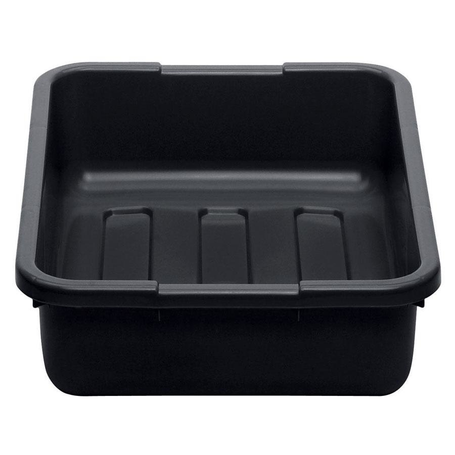 "Cambro 21155CBP110 Cambox 21"" x 15"" x 5"" Black Polyethylene Plastic Bus Box with Ribbed Bottom"
