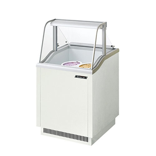 "Turbo Air Refrigeration Turbo Air TIDC-26W White 26"" Ice Cream Freezer Dipping Cabinet with Low Curved Glass - 5.19 Cu. Ft. at Sears.com"