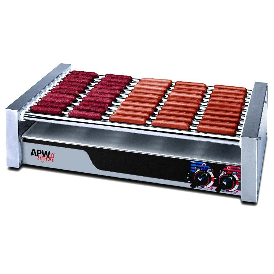 "APW Wyott 120 Volts APW Wyott HR-50S Hot Dog Roller Grill 30 1/2""W - Slant Top at Sears.com"