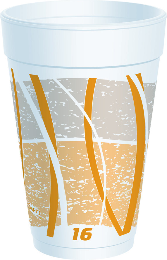 Dart 16LX16E 16 oz. Impulse Foam Cup 1000/Case