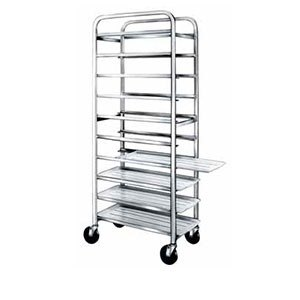 "Winholt SS-1210 End Load Stainless Steel Platter Cart - Ten 12"" Trays"