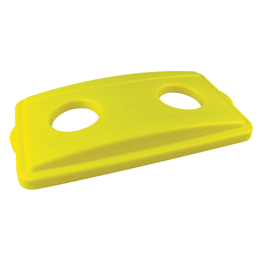 Continental 7316YW Wall Hugger Yellow Recycle Lid with Holes at Sears.com