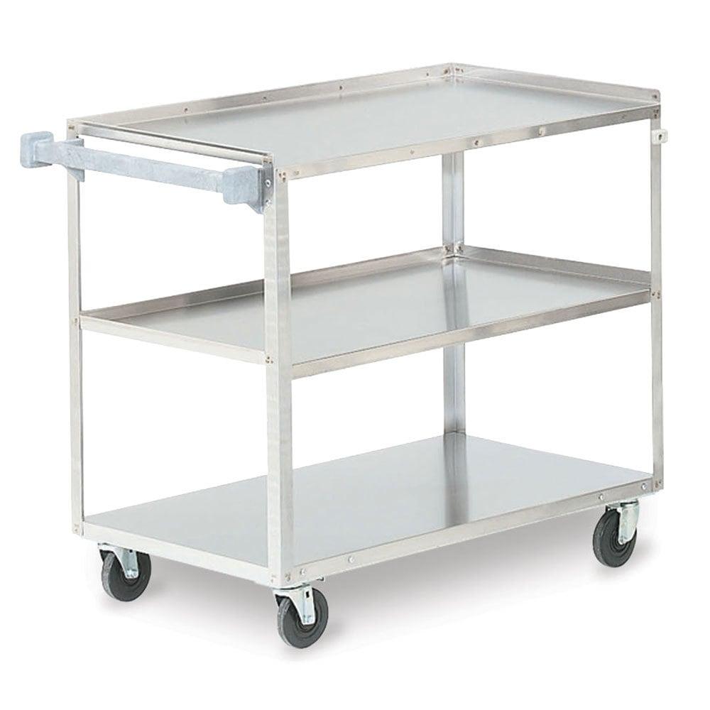 Metal Utility Cart: Vollrath 97140 Stainless Steel 3 Shelf Utility Cart