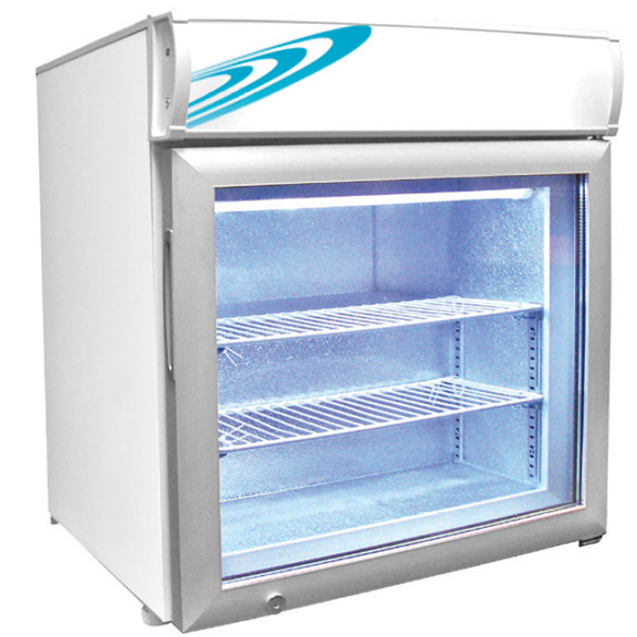 Excellence CTF-2MS White Countertop Display Freezer with Swing Door ...