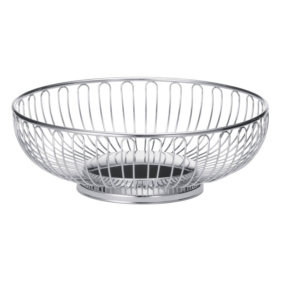 "Tablecraft 4171 Small Oval Chrome Basket - 7 1/2"" x 5 1/2"" x 2 5/8"""
