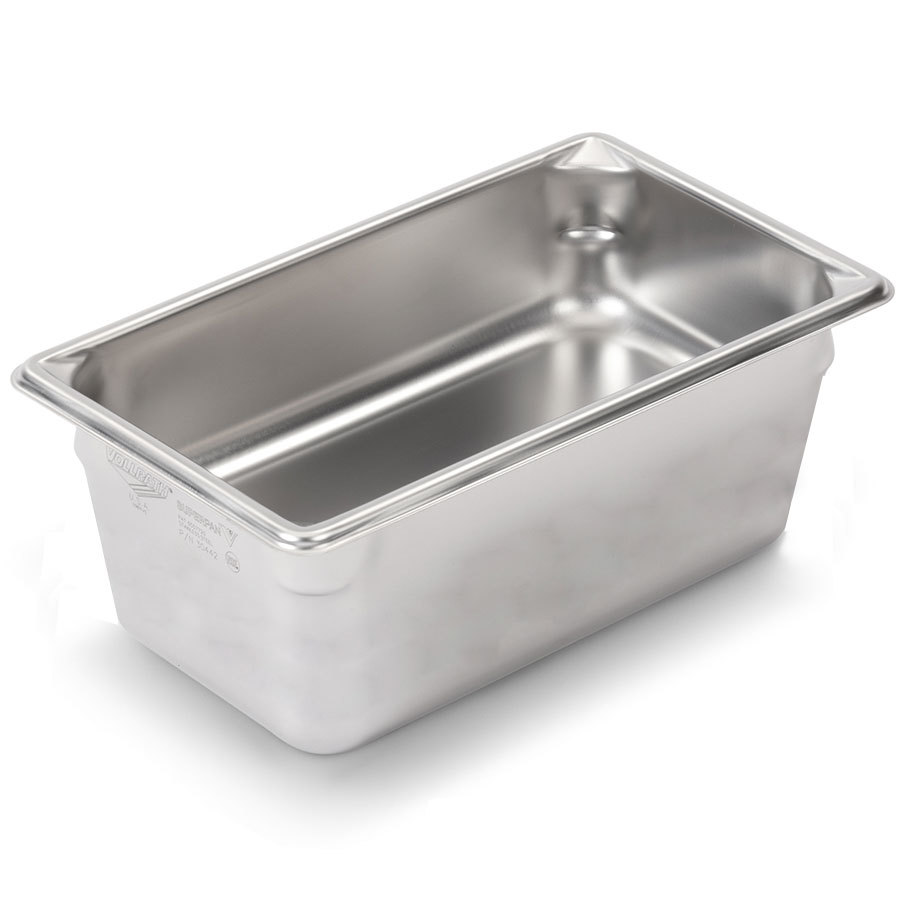 Vollrath Super Pan V 30462 1/4 Size Stainless Steel Anti-Jam Steam Table / Hotel Pan - 6 inch Deep
