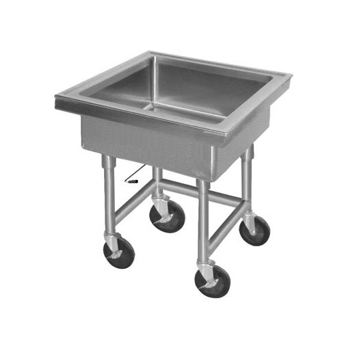 "Advance Tabco 9-FMS-20 Mobile Soak Sink - 22"" x 22"" x 8"" Bowl"