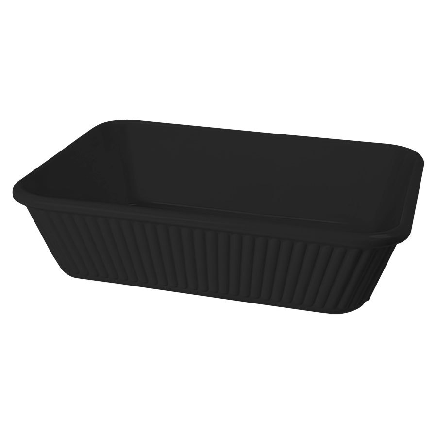 "GET ML-177-BK 3 Qt. 10"" x 8 3/4"" Black Melamine Rectangular Casserole Dish for GET ML-169 Adapter Plate - 3/Case"