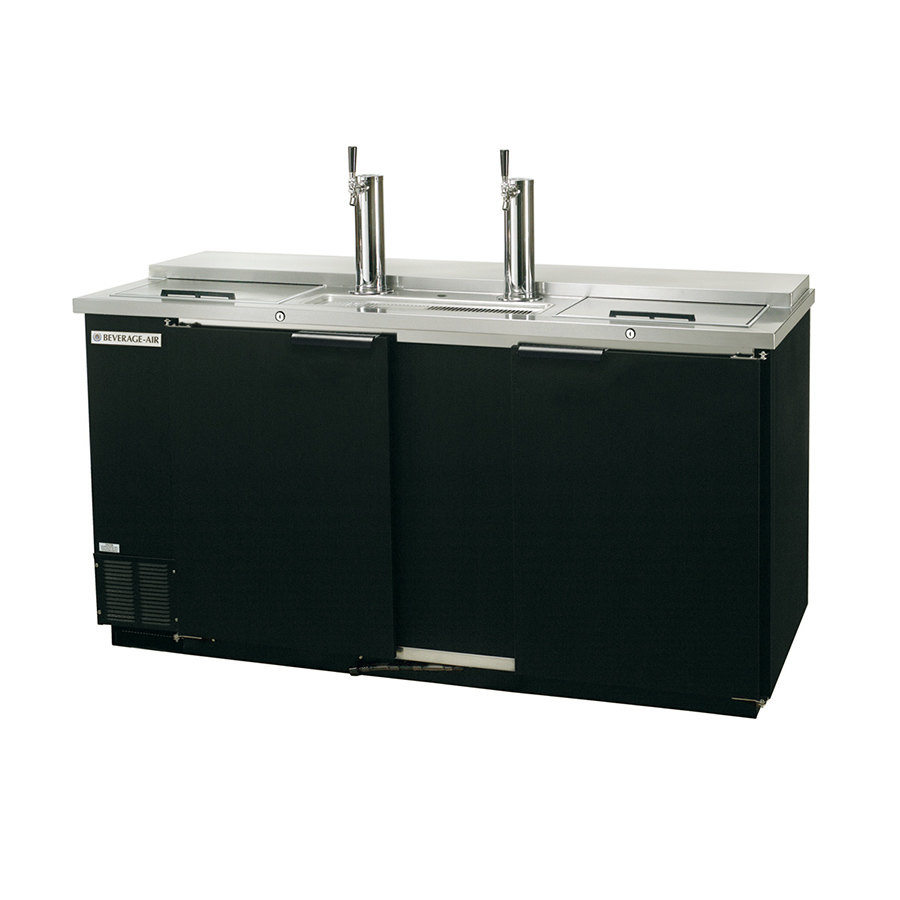 "Beverage Air (Bev Air) DD58C-1-B Black Club Top Beer Dispenser 59"" - 3 Keg Kegerator at Sears.com"